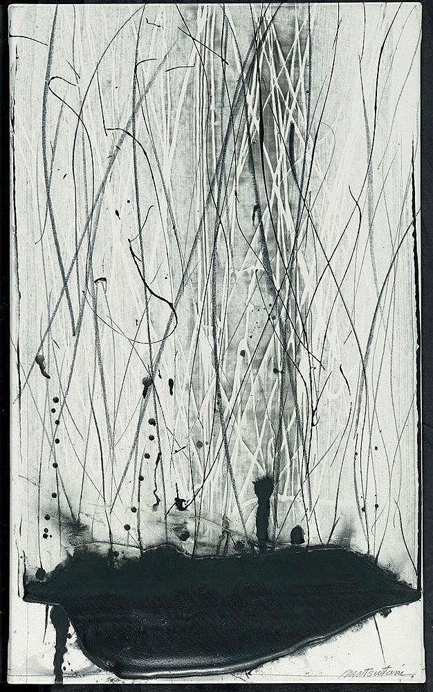 TAKESADA MATSUTANI (NE EN 1937) CASCADE, 2001 Technique mixte sur toile Sig