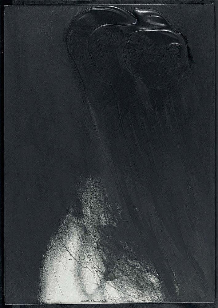TAKESADA MATSUTANI (NE EN 1937) BANDS OF BLACKNESS - 11, 2002 Technique mix