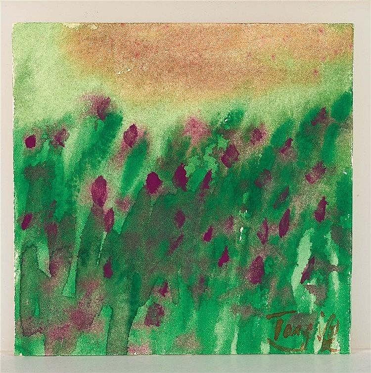 T'ANG HAYWEN (1927-1991) COMPOSITION Aquarelle sur papier fort