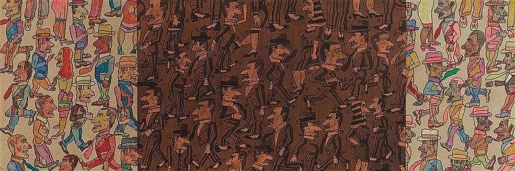 ANTONIO SEGUI (NE EN 1934) PASAR AL LADO, 2007 Acrylique sur toile Signée,