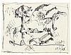 OSWALDO VIGAS (1926-2014) CARICATURE, 1995 Stylo-feutre sur nappe en papier, Oswaldo Vigas, €600