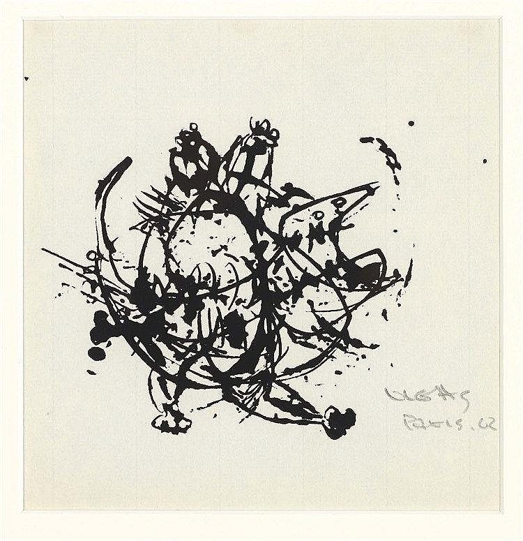 OSWALDO VIGAS (1926-2014) COMPOSITION ABSTRAITE, 2002 Encre de Chine sur pa