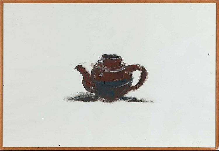 DAMIEN CABANES (NE EN 1959) NATURE MORTE, 1995 Gouache sur papier 74 x 109,
