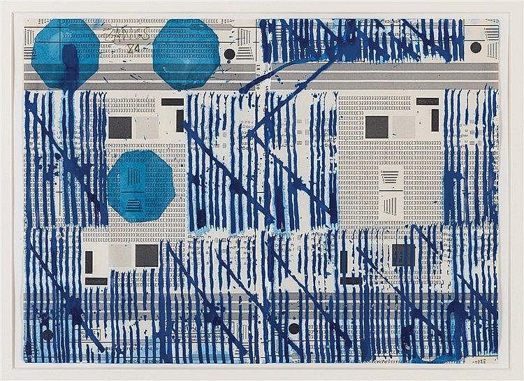 HERBERT ZANGS (1924-2003) SANS TITRE, 1981 Encre sur fond d'impression Sign