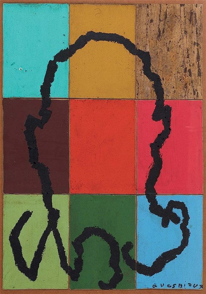 BERNARD QUESNIAUX (NE EN 1953) SANS TITRE, 1992 Polyptyque Acrylique sur pa