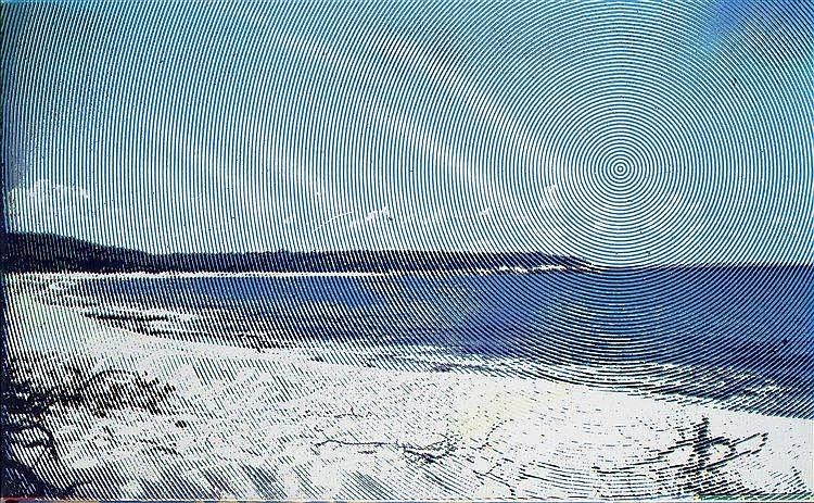 ALAIN JACQUET (1939-2008) PLAGE DES ANTILLES, 1970 Sérigraphie sur toile Si