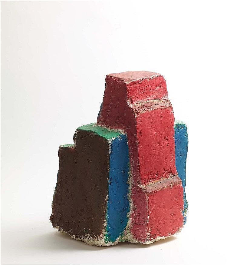 DAMIEN CABANES (NE EN 1959) SANS TITRE, 1996 Plâtre et fibre peints 58 x 40