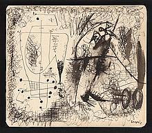 ASGER JORN (ASGER OLUF JORGENSEN DIT) (1914-1973), SANS TITRE, CIRCA 1940