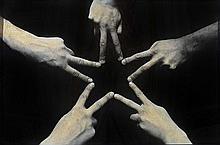 MAURIZIO CATTELAN (NE EN 1960)  UNTITLED (BLACK STAR), 1996  Tirage argenti
