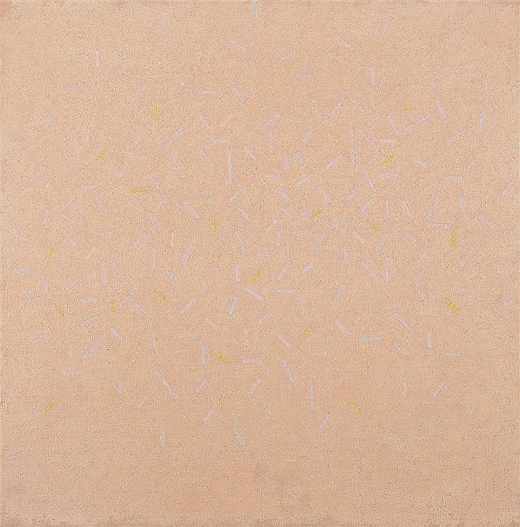 JAMES GUITET (1925-2010) 50X50-09, 1993 Huile sur toile Signée et datée 9.1