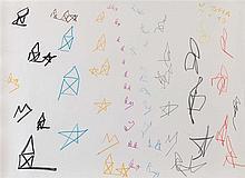 NOEL DOLLA (NE EN 1945) SANS TITRE, 1993 Fusain, mine de plomb et pastel su