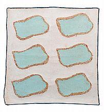 CLAUDE VIALLAT (NE EN 1936) SANS TITRE Acrylique sur tissu d'ameublement Po