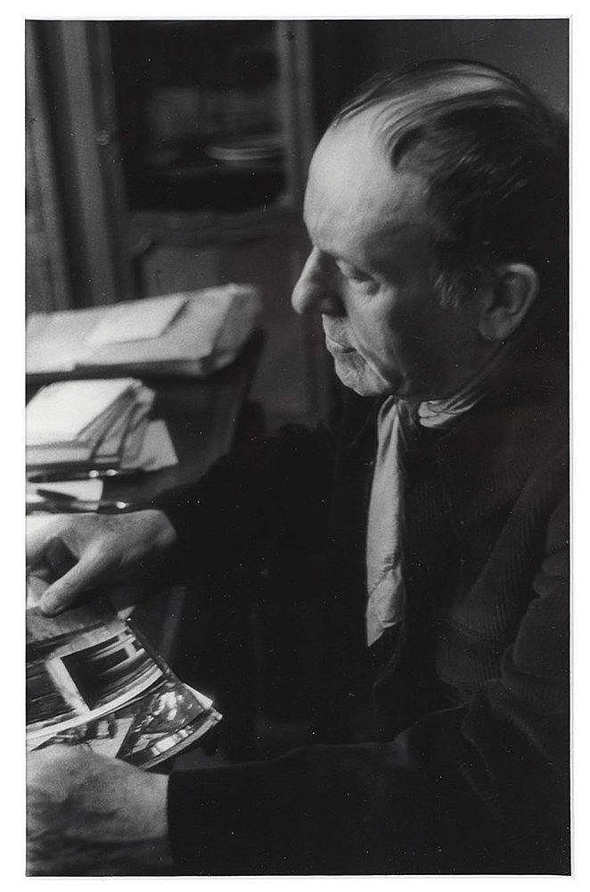 WILLY RONIS (1910-2009) RENE CHAR, 1980 Tirage argentique Signé, titré et d