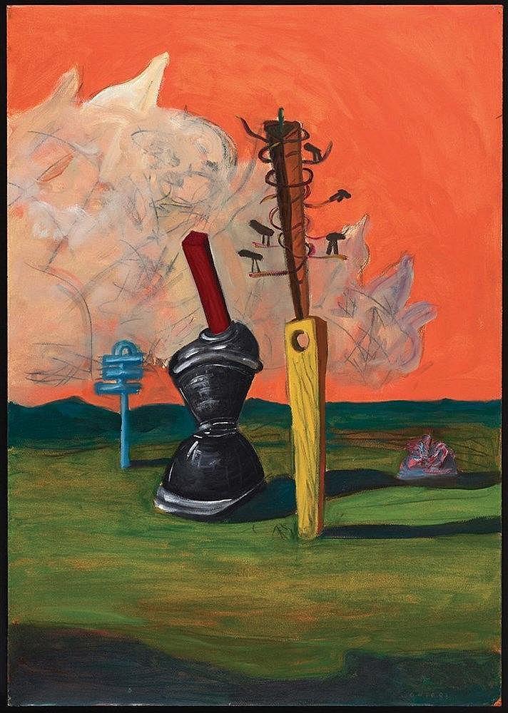 GEORGE CONDO (NE EN 1957) OBJECTS OF NATURE, 1983 Acrylique, gouache et fus