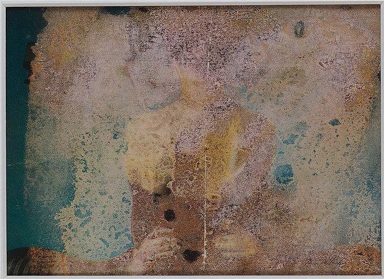 MIMMO ROTELLA (1918-2006) SANS TITRE, 1973 De la série des Effaçages Trichl