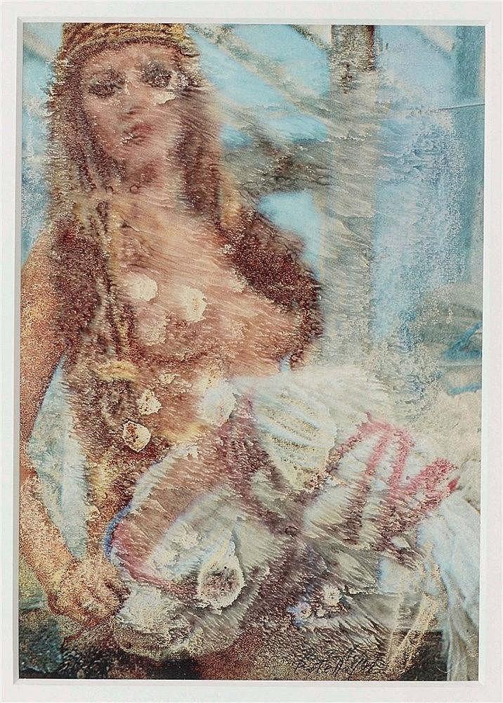 MIMMO ROTELLA (1918-2006) SANS TITRE, 1992 De la série des Effaçages Encre