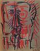 OSWALDO VIGAS (1926-2014) PORTRAIT, 1972 Gouache, fusain et pastel gras sur, Oswaldo Vigas, €2,000