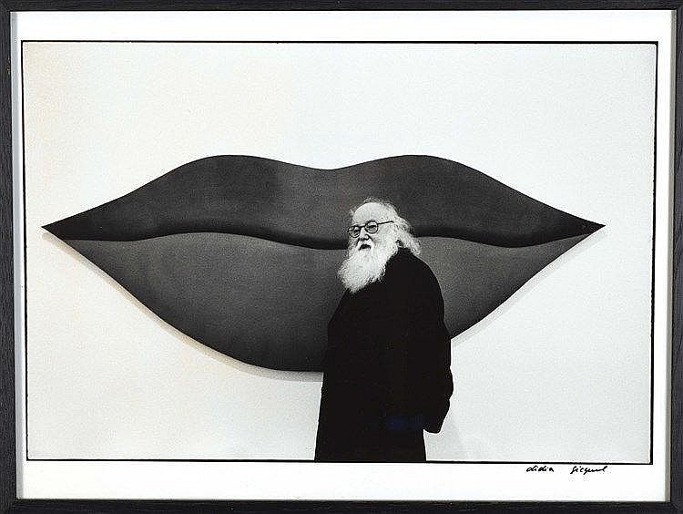 DIDIER GICQUEL (NE EN 1952) PORTRAIT DE PIERRE RESTANY Tirage photographiqu