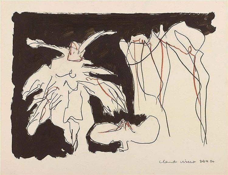 CLAUDE VISEUX (1927-2008) COMPOSITION, 1960 Encre, mine de plomb et crayon