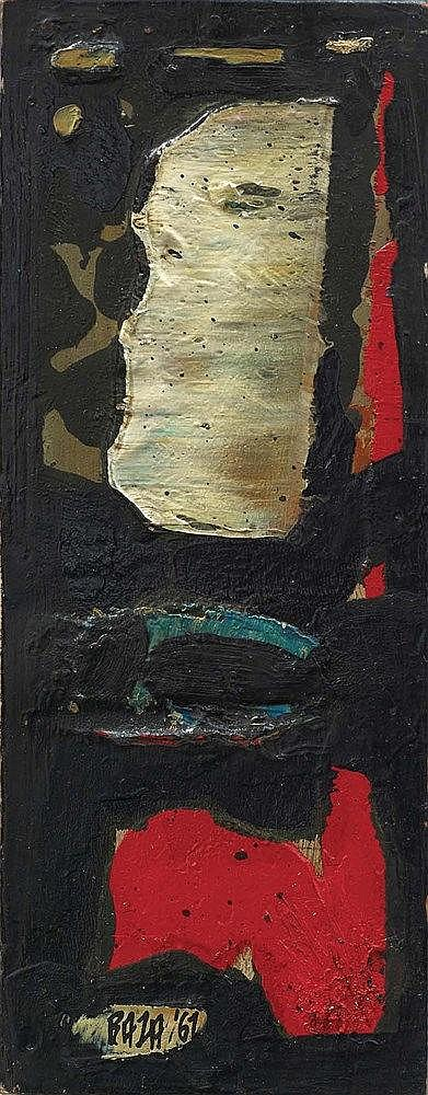 SAYED HAIDER RAZA (1922-2016) DEMI LUNE (P-386'61), 1961 Huile sur panneau