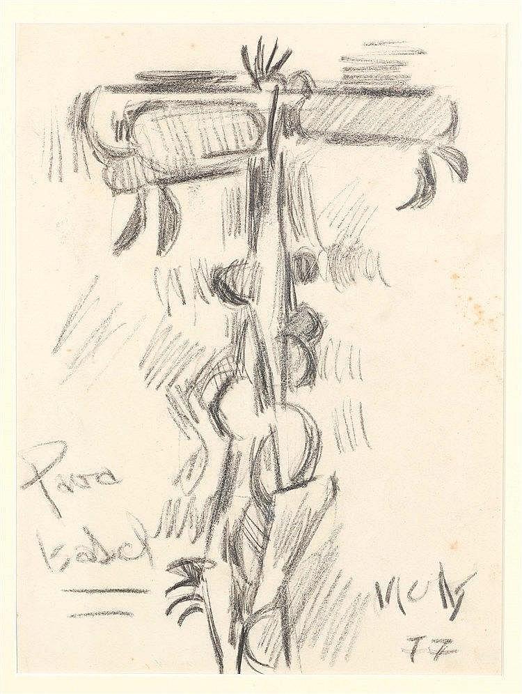 OSWALDO VIGAS (1926-2014) PORTRAIT, 1977 Mine de plomb sur papier Signée et