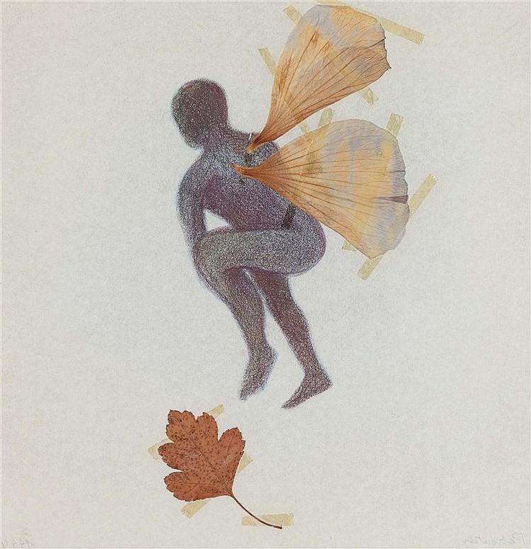 FRANCOISE PETROVITCH (NEE EN 1964) SANS TITRE, 1994 Ailes de papillon, feui