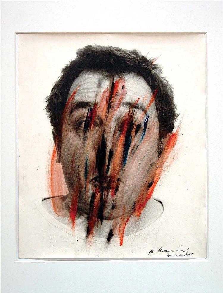 ARNULF RAINER (NE EN 1929) FACE FARCES, 1972 Tirage photographique peint Si
