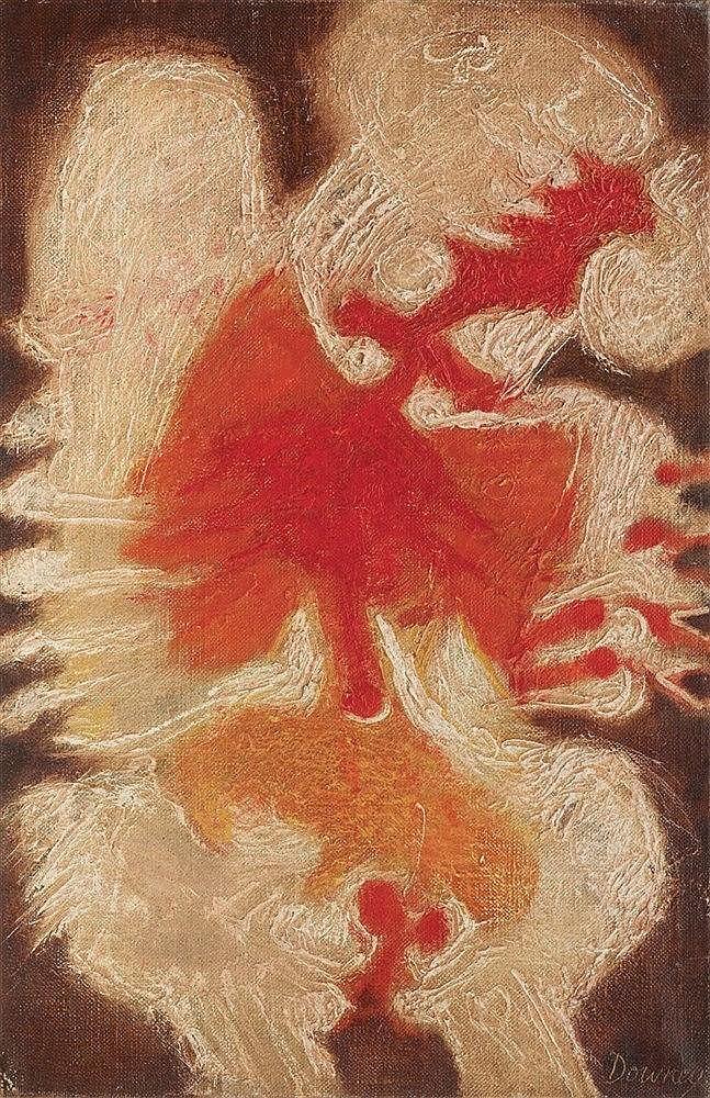 JUAN DOWNEY (1940-1993) BERTHE Huile sur toile de jute Signée en bas à droi