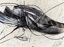 JAN MEYER (1927-1995) COMPOSITION, 1979 Gouache et encre sur papier fort Si