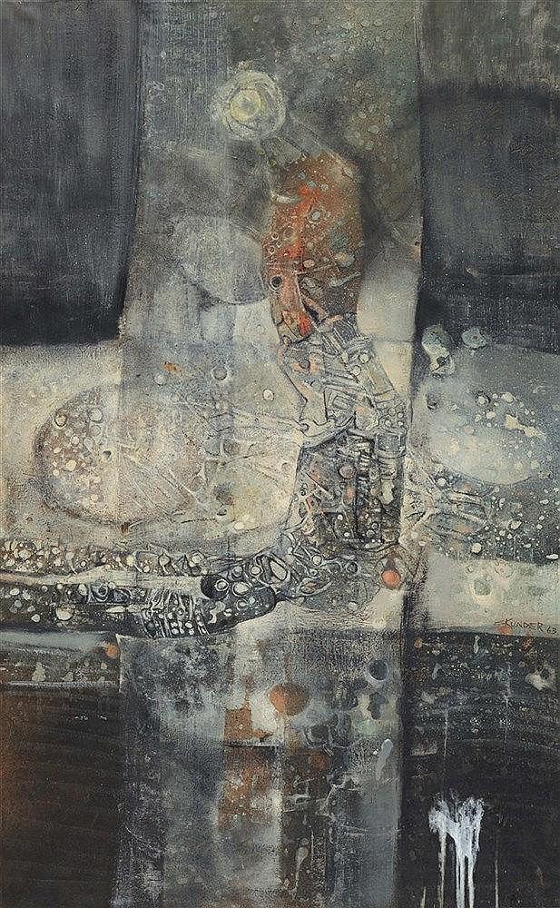 SKUNDER (1937-2003) (ALEXANDER BOGHOSSIAN DIT) FERTILITY, 1963 Huile sur to
