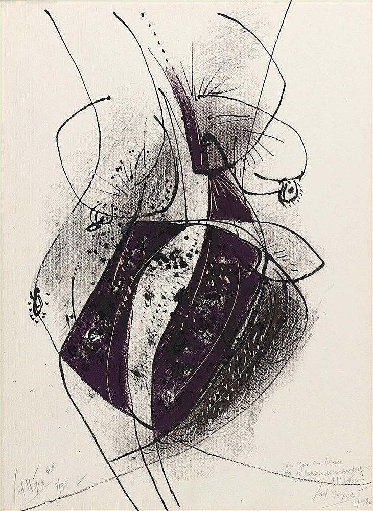 JAN MEYER (1927-1995) COMPOSITION, 1979 Encre, gouache et lacérations sur p