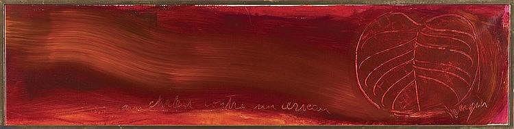 JEAN MESSAGIER (1920-1999) UNE CHALEUR CONTRE UN CERVEAU, CIRCA 1976-1977 H