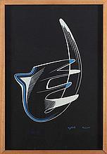 RENATO RIGHETTI (1916-1982) COMPOSITION, 1949 Gouache sur papier fort Signé