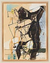 EUGENE DE KERMADEC (1899-1976) NU, 1957 Aquarelle et pastel sur papier Sign