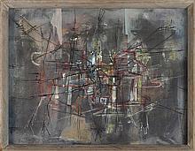 FRANCIS BOTT (1904-1998) COMPOSITION, 1954 Gouache et encre sur papier Sign