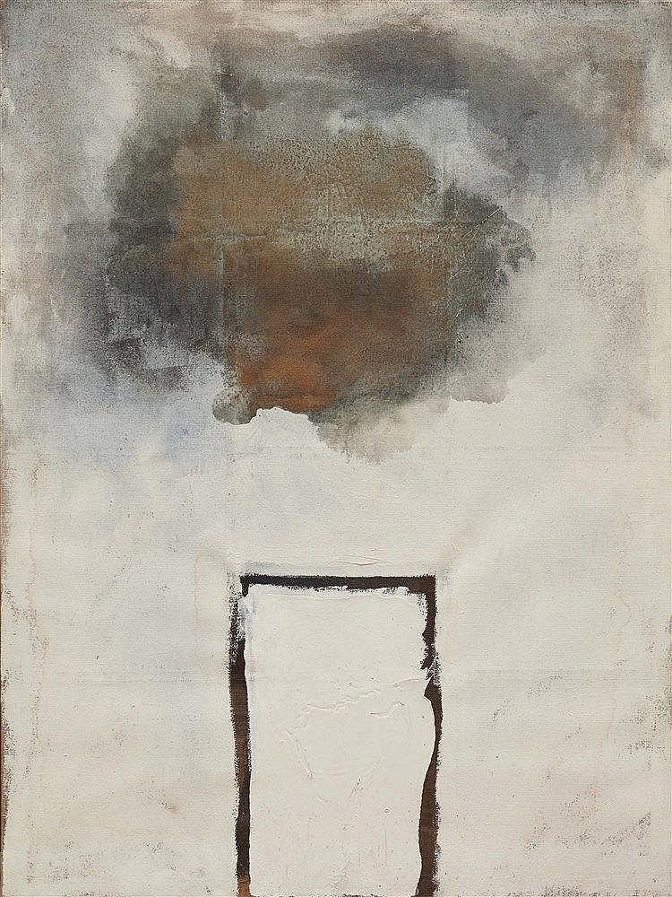 XIAOXIA (NE EN 1957) COMPOSITION, 1990 Huile sur toile Signée et datée au d