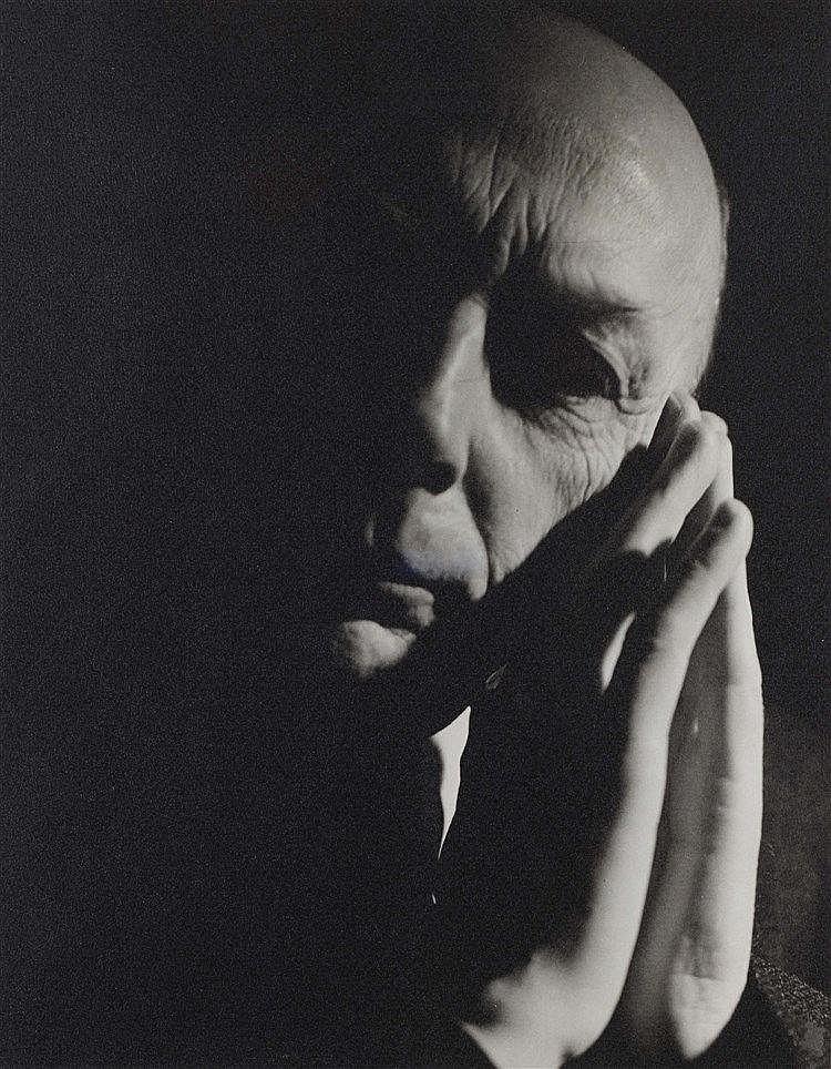 PAUL FACCHETTI (1912-2010) PORTRAIT D'HENRI MICHAUX Tirage photographique e