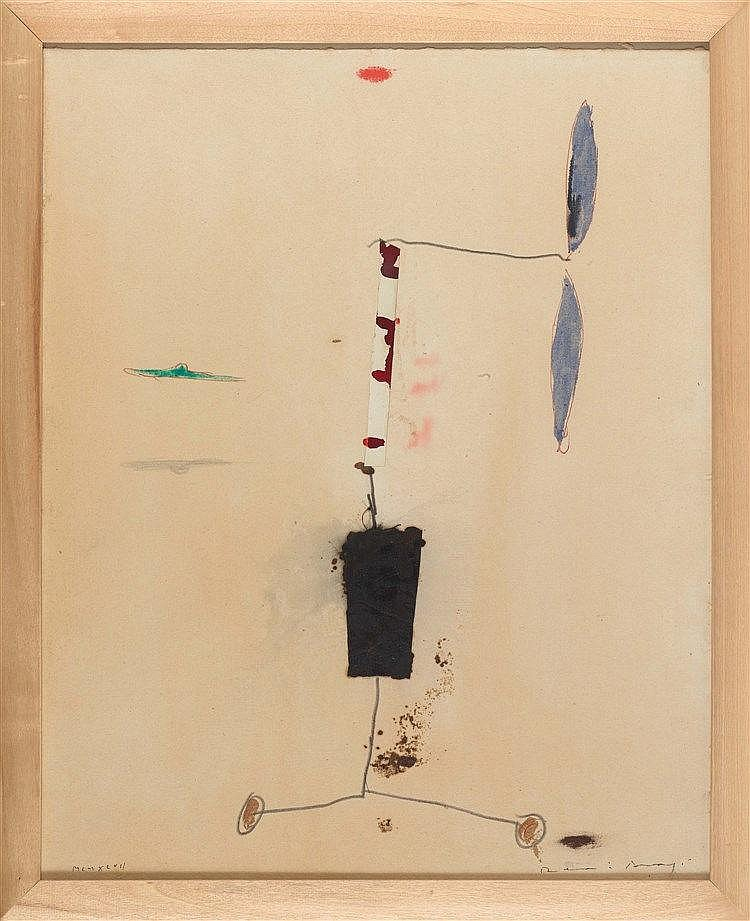 JOSEP RIERA I ARAGO (NE EN 1954) SANS TITRE, 1997 Collage, encre, crayon et
