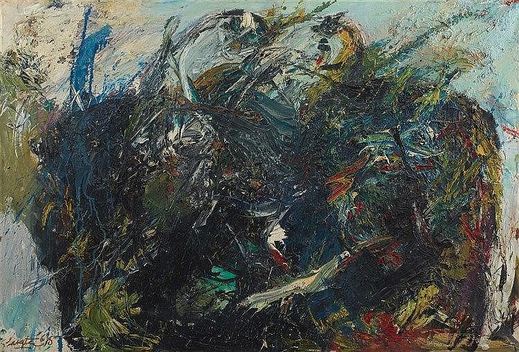 GER LATASTER (GERARD LATASTER DIT) (1920-2012) WIDOW'S HILL, 1965 Huile sur