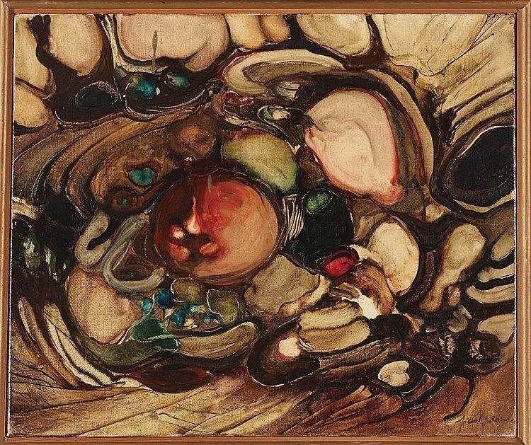 PAUL JEAN REVEL (1922-1983) NATURE MORTE Huile sur toile Signée en bas à dr