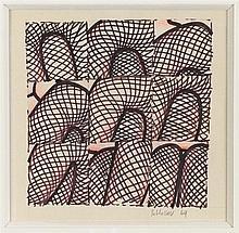 GERARD SCHLOSSER (NE EN 1931) SANS TITRE, 1969 Feutre, crayon de couleur et