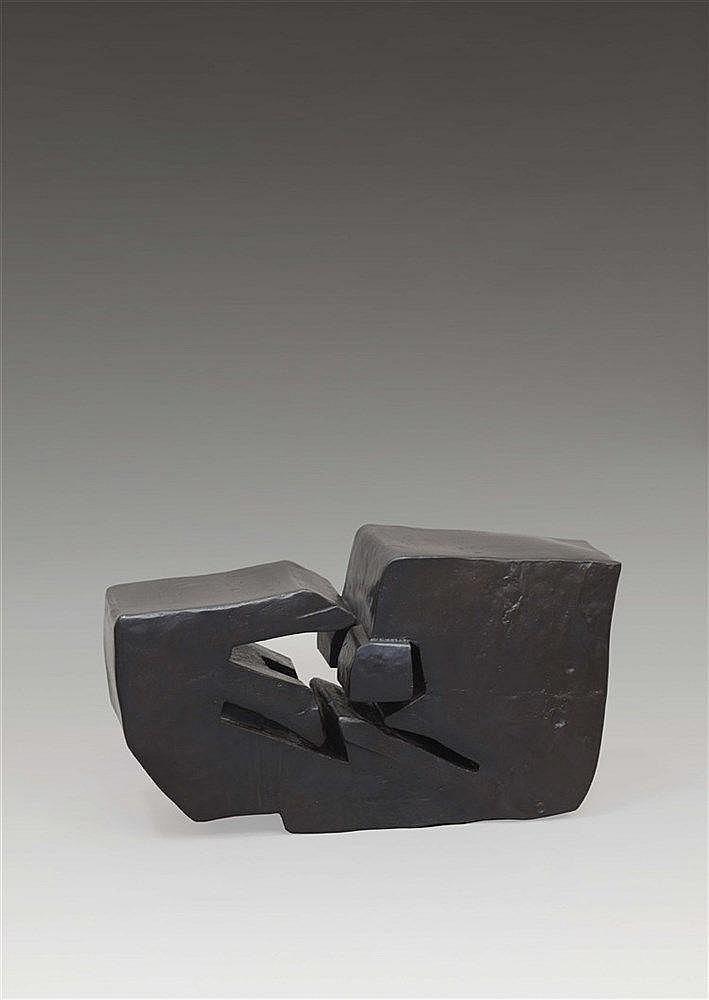 MIGUEL BERROCAL (NE EN 1933)  LA BOITE DECOUPEE (OPUS 28), 1959  Bronze pat