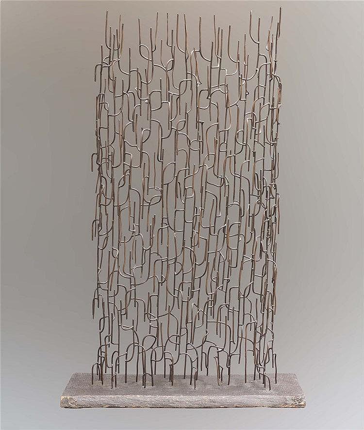 HAROLD COUSINS (1916-1992) GRILLE ANIMEE (LARGE), 1962 De la série des forê