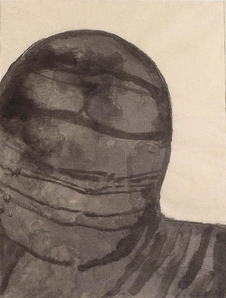 PIERRE DMITRIENKO (1925-1974) PRESENCE, 1970 Encre et lavis d'encre sur pap