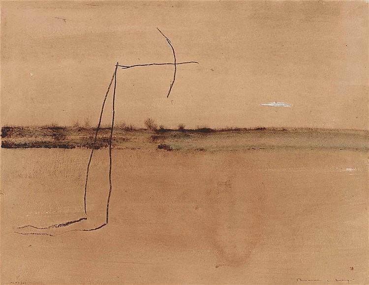 JOSEP RIERA I ARAGO (NE EN 1954) SANS TITRE, 1996 Acrylique et fusain sur p