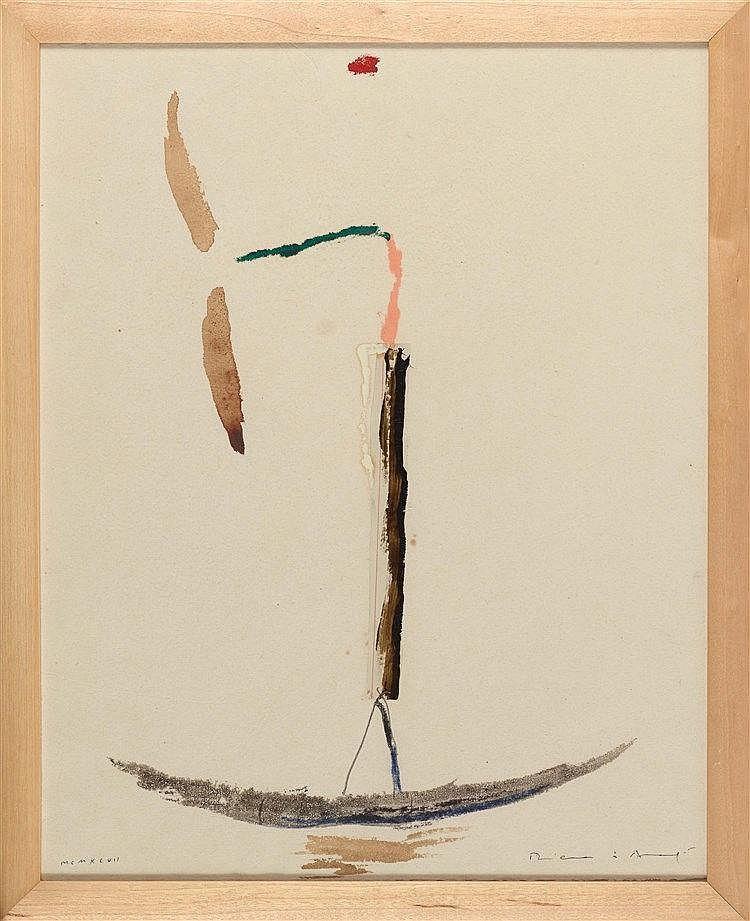 JOSEP RIERA I ARAGO (NE EN 1954) SANS TITRE, 1997 Collage, encre, crayon, g