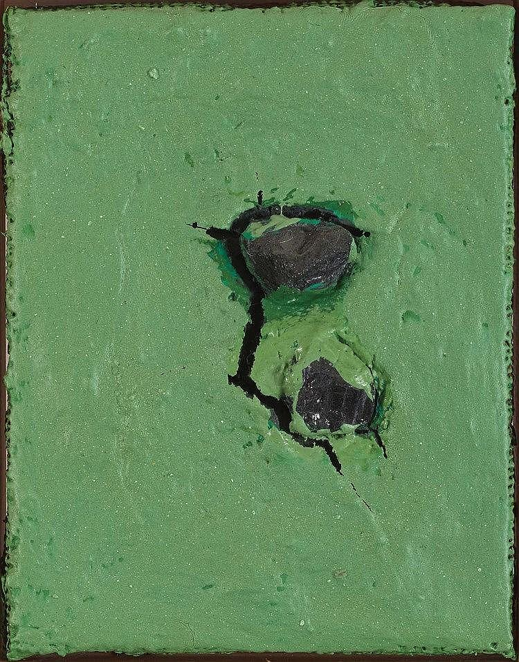 ANGEL ALONSO (1923-1994) FAILLE (FENTE DANS LE VERRE), 1988 Technique mixte