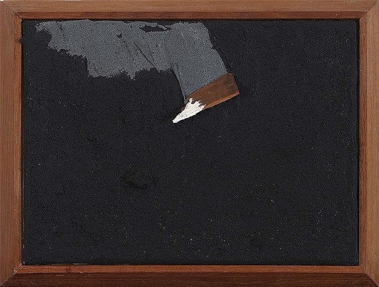 ANGEL ALONSO (1923-1994) LIGNE DE FAILLES, 1985 Technique mixte sur toile M