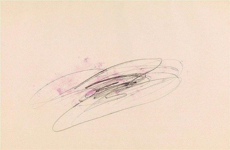 JEAN FAUTRIER (1898-1964) SANS TITRE Fusain et pastel sur papier 39 x 54 cm