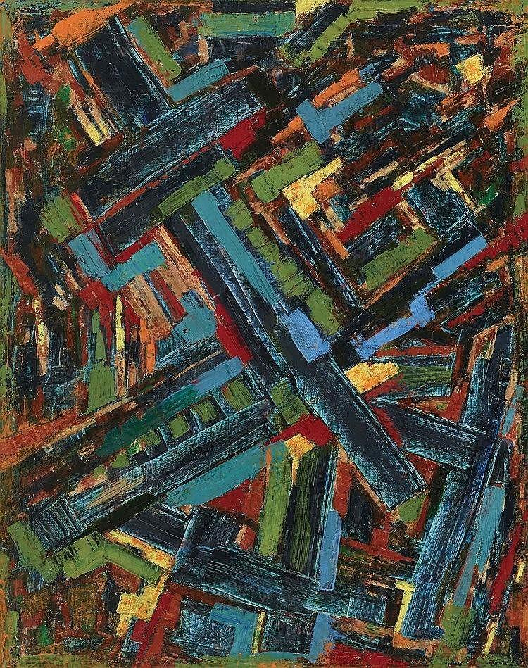 SERGE BENOIT (NE EN 1937) COMPOSITION, 2006 Huile sur toile Signée et datée